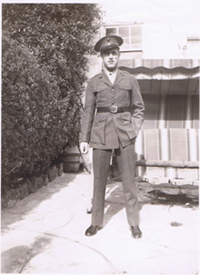 Albert Garcia in Uniform